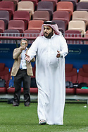 Saudi Arabia Sports Minister Turki al-Sheikh during the Saudi Arabia training session on June 13, 2018 the day before the opening match of the 2018 FIFA World Cup Russia, Group A football match between Russia and Saudi Arabia at Luzhniki Stadium in Moscow, Russia - Photo Thiago Bernardes / FramePhoto / ProSportsImages / DPPI