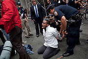 Day 8 of the #occupywallstreet protests in lower Manhattan on September 24, 2011.  Photograph by Andrew Hinderaker.