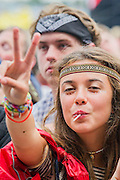 Kelis performs on the Pyramid Stage. The 2014 Glastonbury Festival, Worthy Farm, Glastonbury. 27 June 2013.  Guy Bell, 07771 786236, guy@gbphotos.com