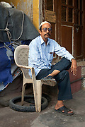 A portrait of a man in Old Delhi, India.