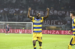 November 10, 2018 - Turin, Piedmont, Italy - Gervinho (Parma Calcio 1913) celebrates the victory after the Serie A football match between Torino FC and Parma Calcio 1913 at Olympic Grande Torino Stadium on November 10, 2018 in Turin, Italy..Torino FC lost 1-2 over Parma. (Credit Image: © Massimiliano Ferraro/NurPhoto via ZUMA Press)