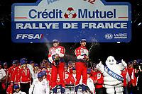 MOTORSPORT - WORLD RALLY CHAMPIONSHIP 2012 - RALLY OF FRANCE - ALSACE - 04 TO 07/10/2012 - PHOTO : ALEXANDRE GUILLAUMOT / DPPI - <br /> 01 LOEB SEBASTIEN (FRA) / ELENA DANIEL (FRA) - CITROËN DS3 WRC - AMBIANCE PODIUM