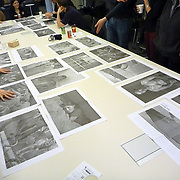 Public editing of the Mira Mexico newspaper and exhibition project at the University of Toronto Latin American Studies program.<br /> (Credit Image: © Louie Palu/ZUMA Press)