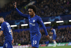 November 5, 2019: AMSTERDAM, NETHERLANDS - OCTOBER 22, 2019: Willian (Chelsea FC) pictured during the 2019/20 UEFA Champions League Group H game between Chelsea FC (England) and AFC Ajax (Netherlands) at Stamford Bridge. (Credit Image: © Federico Guerra Maranesi/ZUMA Wire)