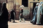 Egypte, Asyut, 25-10-1990Straatbeeld in deze stad tussen Cairo en LuxorFoto: Flip Franssen/Hollandse Hoogte