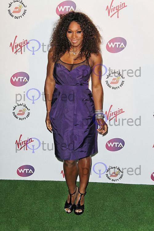 LONDON - JUNE 21: Serena Williams attended The WTA Pre-Wimbledon Party, Kensington Roof Gardens, London, UK. June 21, 2012. (Photo by Richard Goldschmidt)