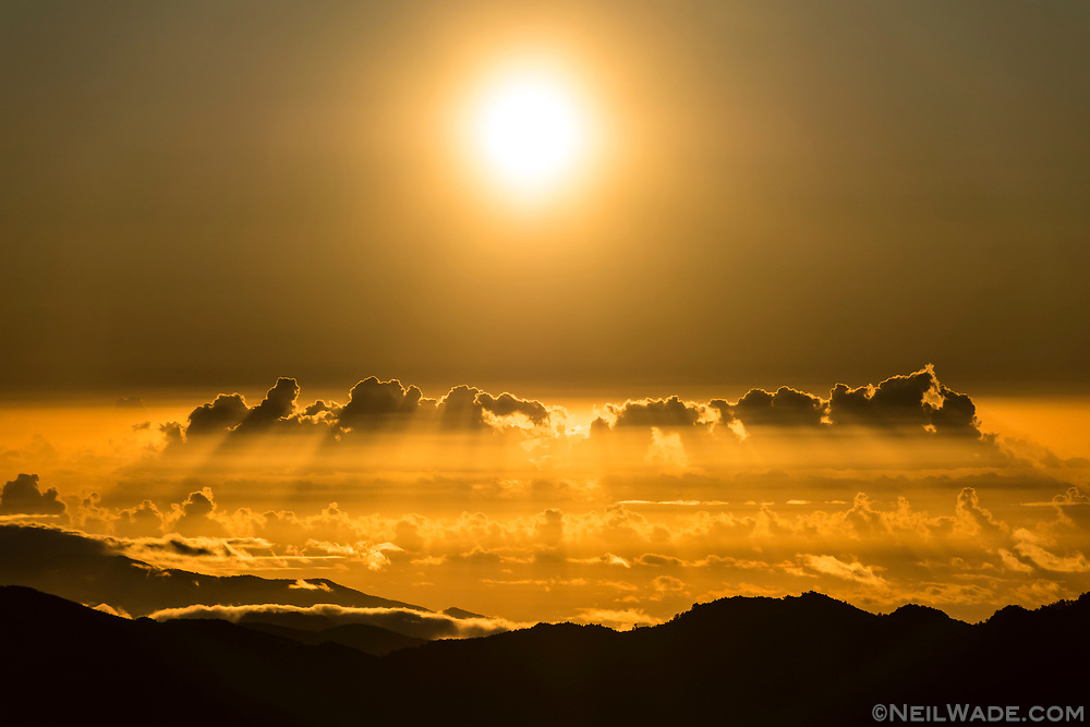 Sunrise over the Pacific Ocean as seen from The Taiwan Mountains.