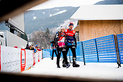 January 6, 2018 - Val Di Fiemme, ITALY - 180106 Ingvild Flugstad ¯stberg of Norway and Sjur Ole Svarstad, coach, after women's 10km mass start classic technique during Tour de Ski on January 6, 2018 in Val di Fiemme..Photo: Jon Olav Nesvold / BILDBYRN / kod JE / 160122 (Credit Image: © Jon Olav Nesvold/Bildbyran via ZUMA Wire)