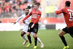 October 28, 2018 - Rennes, France - 14 Benjamin BOURIGEAUD (ren) - 04 ALAIXYS ROMAO  (Credit Image: © Panoramic via ZUMA Press)