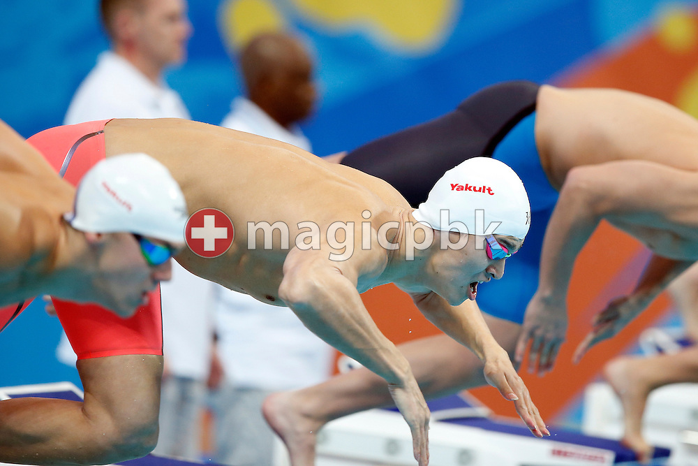 Yang SUN of China starts in the men's 400m Freestyle Heats during the 16th FINA World Swimming Championships held at the Kazan arena in Kazan, Russia, Sunday, Aug. 2, 2015. (Photo by Patrick B. Kraemer / MAGICPBK)
