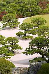 Traditional Japanese dry garden at Adachi art Museum in Japan