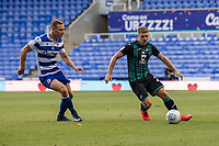 Swansea City's Jake Bidwell (right) under pressure from Reading's Michael Morrison (left) <br /> <br /> Photographer David Horton/CameraSport<br /> <br /> The EFL Sky Bet Championship - Reading v Swansea City - Wednesday July 22nd 2020 - Madejski Stadium - Reading <br /> <br /> World Copyright © 2020 CameraSport. All rights reserved. 43 Linden Ave. Countesthorpe. Leicester. England. LE8 5PG - Tel: +44 (0) 116 277 4147 - admin@camerasport.com - www.camerasport.com