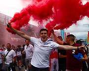 England supporters outside Wembley stadium prior to the start of the Euro 2020 finals against Italy. 11/07/2021, Marcin Riehs/Pathos