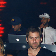 EXCLUSIVE: Celebrities are spotted celebrating in Marquee Nightclub.<br /><br />Pictured: DJ Vice and Swizz Beatz<br />Ref: SPL588506  140813   EXCLUSIVE<br />Picture by: CelebrityVibe / Splash News<br /><br />Splash News and Pictures<br />Los Angeles:310-821-2666<br />New York:212-619-2666<br />London:870-934-2666<br />photodesk@splashnews.com