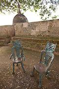 Decorative chairs in Parque de las Palomas Old San Juan, Puerto Rico.