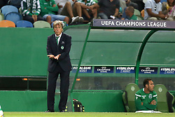 August 15, 2017 - Lisbon, Portugal - Sporting's head coach Jorge Jesus from Portugal gestures during the UEFA Champions League play-offs first leg football match between Sporting CP and FC Steaua Bucuresti at the Alvalade stadium in Lisbon, Portugal on August 15, 2017. (Credit Image: © Pedro Fiuza/NurPhoto via ZUMA Press)
