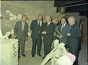 24/08/1984<br /> 08/24/1984<br /> 24 August 1984<br /> Opening of ROSC '84 at the Guinness Store House, Dublin. At the event were (r-l):  Brian Slowey, Managing Director, Guinness,Ireland; Minister of State for Arts and Culture Ted Nealon;  Mrs Maeve Hillery; President Patrick Hillery; Lord Iveagh and Mr Pat Murphy ROSC Chairman,on the far left.