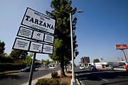 Welcome to Tarzana Sign, Ventura Blvd., Los Angeles County, California, USA