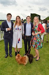 Left to right, the HON.GEORGE CADOGAN, the HON.PHILIPPA CADOGAN, The HON.CHARLIE CADOGAN and their mother VISCOUNTESS CHELSEA at the Cartier Queen's Cup Final 2016 held at Guards Polo Club, Smiths Lawn, Windsor Great Park, Egham, Surry on 11th June 2016.