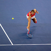 2019 US Open Tennis Tournament- Day Eight.  Julia Goerges of Germany  in action against Donna Vekic of Croatia in the Women's Singles round four match on Louis Armstrong Stadium during the 2019 US Open Tennis Tournament at the USTA Billie Jean King National Tennis Center on September 2nd, 2019 in Flushing, Queens, New York City.  (Photo by Tim Clayton/Corbis via Getty Images)