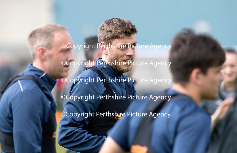 St Johnstone Training…04.05.18<br />Murray Davidson pictured during training this morning at McDiarmid Park<br />Picture by Graeme Hart.<br />Copyright Perthshire Picture Agency<br />Tel: 01738 623350  Mobile: 07990 594431