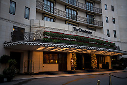 © Licensed to London News Pictures. 30/11/2020. London, UK. The Dorchester Hotel on Park Lane, London, where Arcadia Group chairman Philip Green has kept a suite. Arcadia Group, the parent company of retail outlets Top Shop, Burton, Dorothy Perkins, Evans and Miss Selfridge, is close to going in to administration, putting putting 13,000 jobs at risk, following the economic affects of coronavirus lockdown. Photo credit: Ben Cawthra/LNP