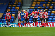 GOAL 0-1, Sunderland attacker Charlie Wyke (9) during the EFL Sky Bet League 1 match between AFC Wimbledon and Sunderland at Plough Lane, London, United Kingdom on 16 January 2021.