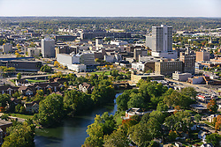 Oct. 15, 2005; St. Joseph River and downtown South  Bend, Indiana.<br /> <br /> Photo by Matt Cashore