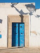 Doorway decorated with Islamic tilework, El Djem, Tunisia