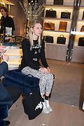 FRANCES COSTELLOE, Smythson Sloane St. Store opening. London. 6 February 2012.