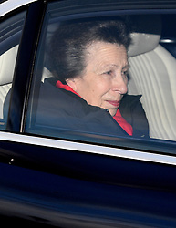 The Princess Royal leaving the Queen's Christmas lunch at Buckingham Palace, London.