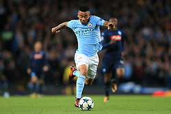 17th October 2017 - UEFA Champions League - Group F - Manchester City v Napoli - Gabriel Jesus of Man City - Photo: Simon Stacpoole / Offside.