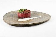 Nederland, Gouda, 20100710..sashimi tuna tartar.Gouda Kookt