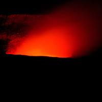 Kilauea Crater, Big Island Hawaii, night eruption, orange glow, volcano, Mauna Loa, Hawaii