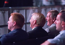 Gordon Strachan and Kenny Dalglesh.  Celtic celebrating the Lisbon Lions at the Hydro.