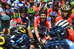 June 14, 2018 - Gommiswald, Suisse - GOMMISWALD, SWITZERLAND - JUNE 14 : VAN AVERMAET Greg (BEL)  of BMC Racing Team, WELLENS Tim (BEL)  of Lotto Soudal during stage 6 of the Tour de Suisse cycling race, a stage of 186 kms between Fiesch and Gommiswald on June 14, 2018 in Gommiswald, Switzerland, 14/06/2018 (Credit Image: © Panoramic via ZUMA Press)