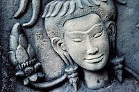 Cambodge, Siem Reap, Angkor, Temple de Angkor Vat, patrimoine mondial UNESCO, danseuse Apsara// Cambodia, Ankgor, Angkor Vat Temple, UNESCO world heritage, Apsara dancer
