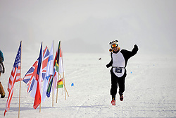 © Licensed to London News Pictures. Union Glacier, Antarctica. The 9th edition of the Antarctic Ice Marathon. The Ice Marathon took place at Union Glacier, Antarctica, and is  recognised as the world's southernmost marathon and the only official running event within the Antarctic Circle, taking place just a few hundred miles from the South Pole at the foot of the Ellsworth Mountains. Temperatures were an ice cool -21C when the event got underway at 13:10 GMT on Wednesday 20  November. A total of 56 athletes from 21 countries took part in the ninth edition of the event, which is  an essential race for marathon runners seeking to join the Seven Continents Marathon Club. Photo credit: Mike King/LNP