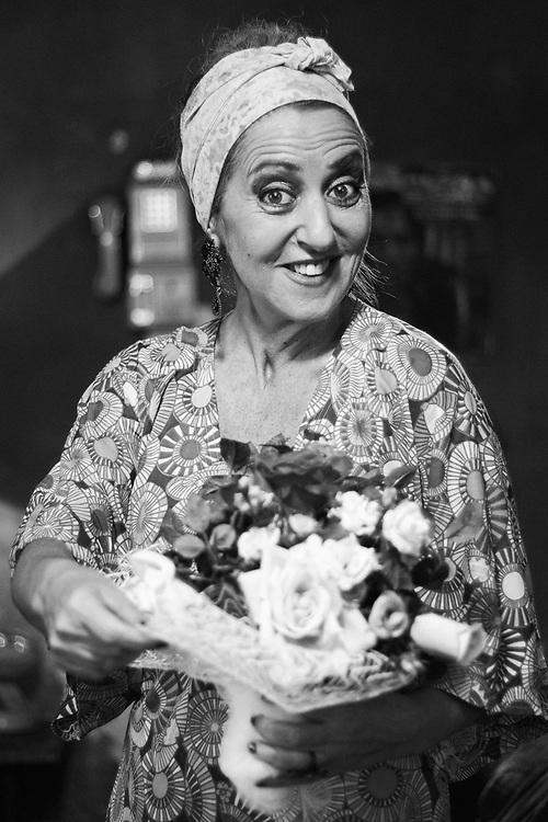 Italian actress Gea Martire. Castel Volturno, Italy. 2015.