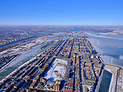 Nederland, Noord-Holland, Gemeente Amsterdam, 13-02-2021; winterlandschap, zicht op IJburg en IJmeer. Tho van Goghpark.<br /> Winter landscape, view of IJburg and IJmeer. Public Park.<br /> luchtfoto (toeslag op standaard tarieven);<br /> aerial photo (additional fee required)<br /> copyright © 2021 foto/photo Siebe Swart