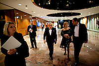 Dr. Henry Kissinger makes his way to the VIP lounge prior to the show at the 37th International Emmy Awards Gala in New York on Monday, November 23, 2009.  ***EXCLUSIVE***