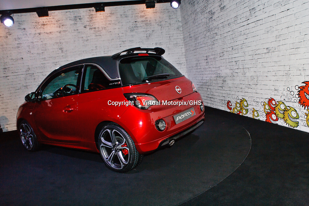 Vauxhall (Opel) Adam S, at launch function in Geneva 3 March 2014