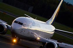 THEMENBILD - Ein Boeing 737-300 der Lufthansa am 21. Oktober 2013 am Flughafen Graz Thalerhof // a BOEING 737-300 from the Lufthansa on 21 October 2013. EXPA Pictures © 2013, PhotoCredit: EXPA/ Erwin Scheriau
