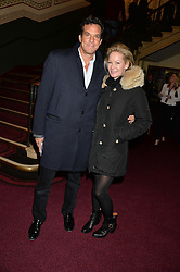 BRENT & GENEVIEVE HOBERMAN at the opening night of Cirque du Soleil's award-winning production of Quidam at the Royal Albert Hall, London on 7th January 2014.