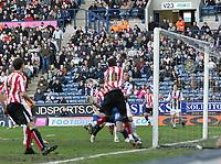 Photo: Mark Stephenson.<br />West Bromwich Albion v Sunderland. Coca Cola Championship. 03/03/2007.Sunderland's no 20 Stern John finds the back of the net