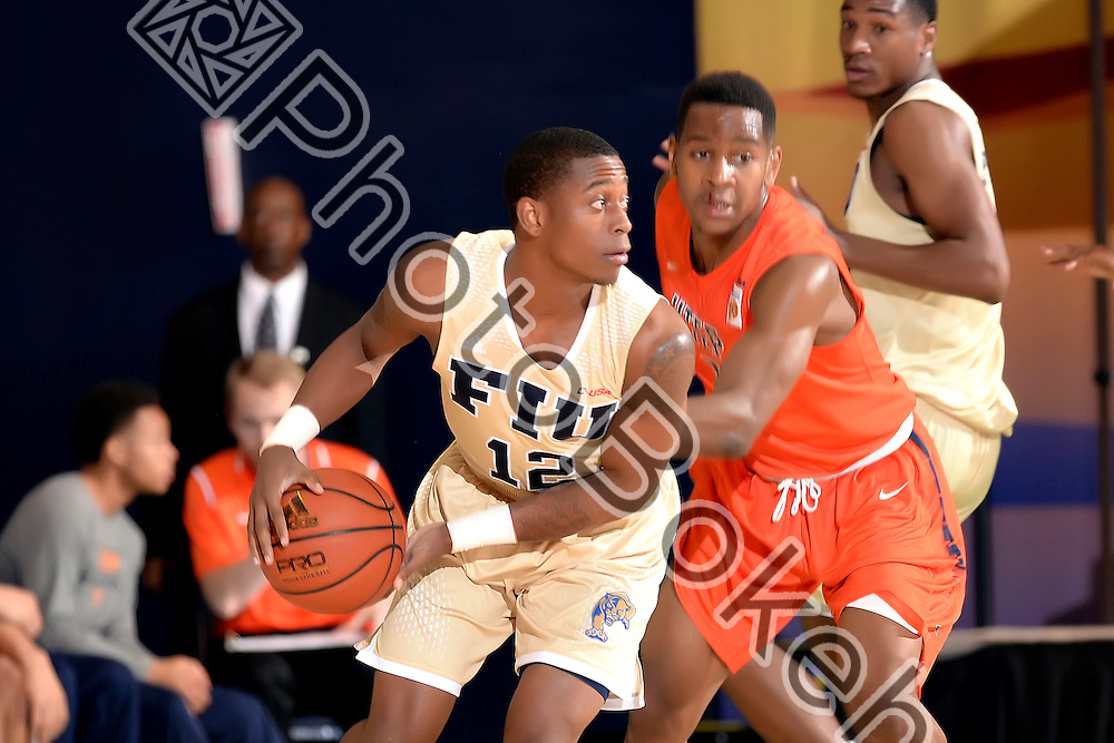 2016 February 11 - FIU's Eric Nottage (12). <br /> Florida International University fell to UTEP, 74-84, at FIU Arena, Miami, Florida. (Photo by: Alex J. Hernandez / photobokeh.com) This image is copyright by PhotoBokeh.com and may not be reproduced or retransmitted without express written consent of PhotoBokeh.com. ©2016 PhotoBokeh.com - All Rights Reserved