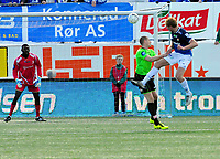Fotball Herrer Tippeligaen 2013<br /> Marienlyst Stadion Gamle Gress  07.04.2013<br /> <br /> Strømsgodset vs Sarpsborg 08<br /> <br /> Resultat <br /> <br /> Foto: Robert Christensen Digitalsport<br /> <br /> Strømsgodset Peter Kovacs<br /> <br /> Sarpsborg 08 Keeper Duwayne Kerr