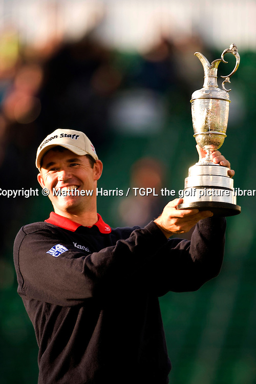 Padraig HARRINGTON (IRE) during the play off at the British Open Championship, 22nd July 2007. With the famous claret jug.