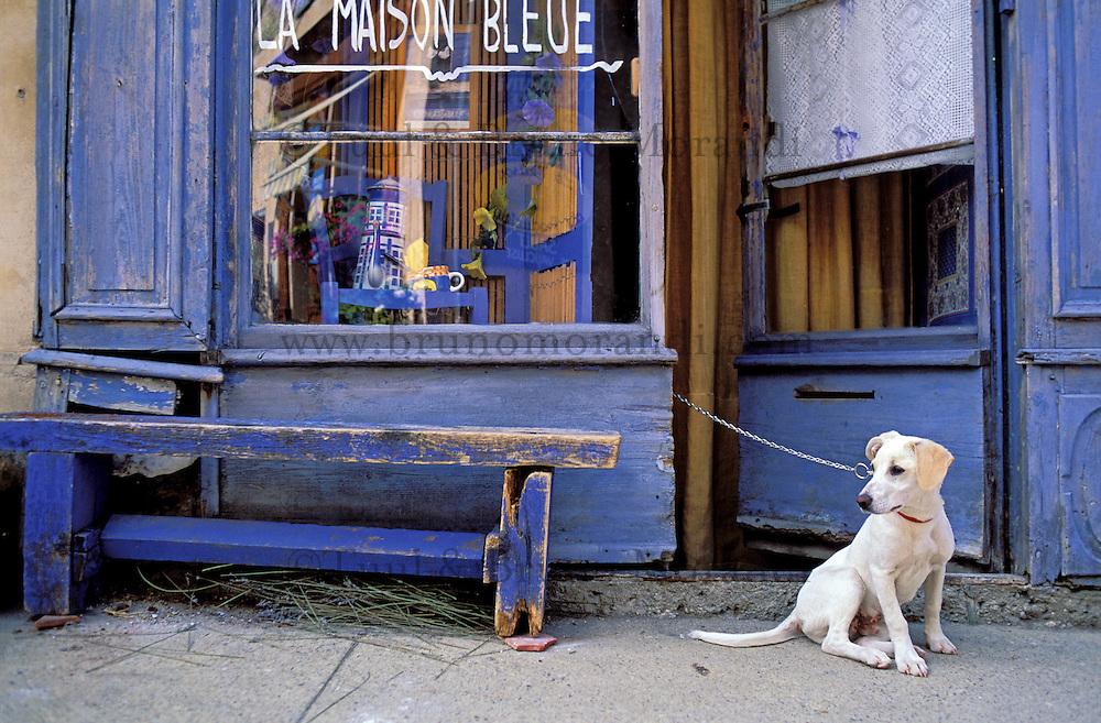 France - Provence - Vaucluse - Sault - Maison Bleue