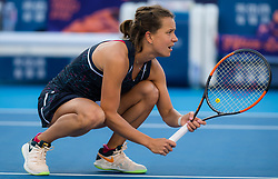 October 3, 2018 - Barbora Strycova of the Czech Republic in action during her doubles match at the 2018 China Open WTA Premier Mandatory tennis tournament (Credit Image: © AFP7 via ZUMA Wire)